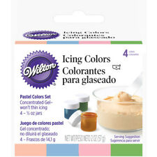 Wilton Food Color Icing Pastel Icing Colors. Four 1/2 oz. Jars