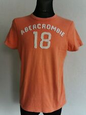 Abercrombie & Fitch mens cotton short sleeve orange T-shirt size L