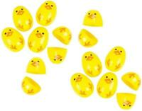 72 Yellow Chick Hinged Plastic Eggs - Easter Baskets Egg Hunt Chic Cupcake Top