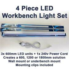 1.8 LED Cool White Light with Power Cord for Workbench Workshop Lighting Set