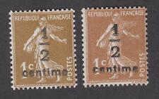 France - Timbres Neufs - Semeuses N° 279A et 279B surchargés ** - TB