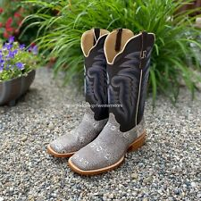 Square Toe Western Boots Rw7900 R. Watson Men's Natural Ring Lizard