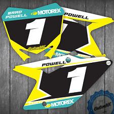 SUZUKI RM RMZ Motocross Number Backgrounds 85 125 250 450 DECALS / STICKERS