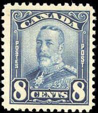 Mint NH Canada 8c 1928 F+ Scott #154 King George V Scroll Stamp