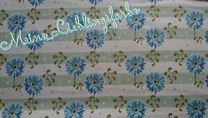 Baumwolle Meterware Vintage Tilda Gerbera blue blau Blumen 12€/m