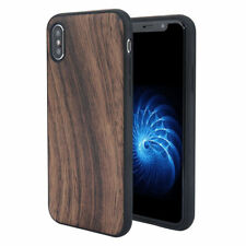 Natural Wood Effect Case for Apple iPhone 7 8 bamboo soft cover TPU woodgrain
