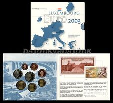 SERIE DIVISIONALE UFFICIALE ZECCA 8 MONETE EURO LUSSEMBURGO 2003 _ FDC