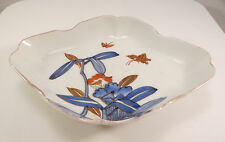 Japanese Arita Imari Porcelain Bowl Flowers Butterflies Ceramic Japan B