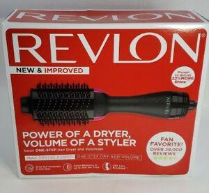 REVLON One-Step Hair Dryer Volumizer Hot Air Brush, Black, Packaging May Vary