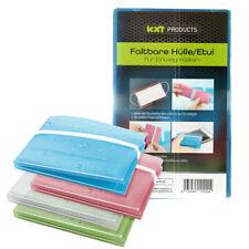 4 Stk • KXT FALTBARE HÜLLE / ETUI BOX • für Mundschutz Maske Aufbewahrung Masken