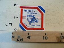 STICKER,DECAL LEENDERT V WINGERDEN RIDDERKERK ANTIEKE & EXCLUSIEVE OLD CARS