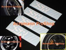 """4x 3"""" 7.6cm SSR side spoke alloy wheel Decal Sticker SP1 professor rim RS GT JDM"""