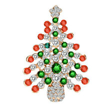 Pin Gift Fashion Party Jewelry 6*4cm Christmas Classic Brooch Europe Xmas Tree