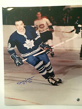 Norm Ullman autographed 16 x 20 Toronto Maple Leafs photo * Hall of Famer