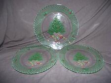 Set of 3 Mikasa Christmas Story Glass Plates - 1 Large, 2 Small