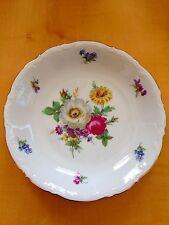 "MITTERTEICH Bavaria Meissen Floral China Set of 4 8"" Coupe Soup Bowls Flwr Left"