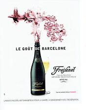 Publicité Advertising 058  2010   champagne Freixenet  Cordon negro