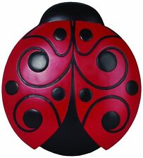 Red Black Ladybug Indoor Outdoor Lawn Garden Stepping Stone Wall Plaque Decor