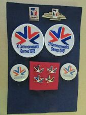 Collection of 1978 & 1994 Commonwealth Games Pins, Patches & Buttons