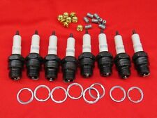 1933-37 Ford Autolite spark plugs set of 8 With Brass Knurl nuts 40-12405-A