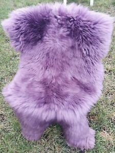 Top Eco Lambskin Sheepskin Fur Plum Violet Purple New L - XXL