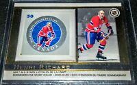 2005 Henri Richard Canada Post #31 Commemorative Stamp Card Montreal Canadiens