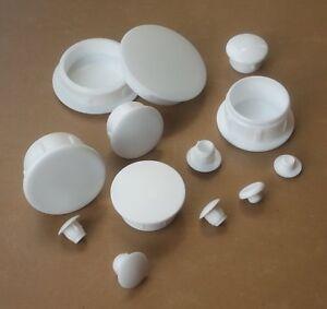Hole Plugs Plastic Blanking Masking Finishing Inserts / Various Sizes / WHITE