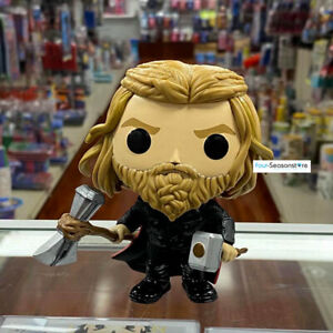 Funko Pop Thor with hammer Avengers Endgame Exclusive Special Edition Sticker