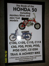 HONDA C100 C102 C110 C114 C50 P50 PC50 PF50 CE105H TRAIL MONKEY BIKE MANUAL >'77
