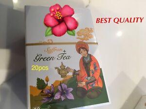 PREMIUM GREEN SAFFRON TEA BAGS 20pcs, QUALITY GUARANTEED A*