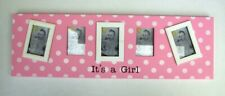 Its A Girl Photo Frame Collage 45cm White Pink Multi Wall Nursery New