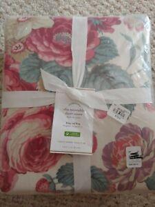 1 Pottery Barn Elia Duvet Cover Set Pink Rose King / Cal King Floral NEW