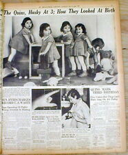 1937 Baltimore newspaper w page of photos showing THE DIONNE QUINTUPLETS Canada