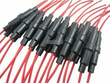10PCS 6x30mm 6X32 AGC Glass Blow Fuse Holder Inline screw type with 20 AWG wire
