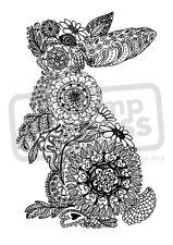 A7 'Floral Bunny' Desmontado sello de goma (SP00004521)