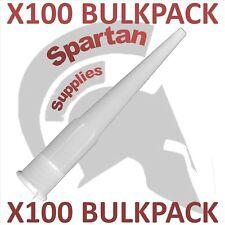 X 100 Bulk Pack Spare Nozzles for 310ml cartridges Silicone sealant Mastic Caulk