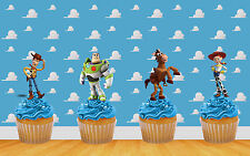 22 x Toy Story Edible Stand Up Cupcake Toppers (uncut) quality wafer card
