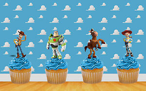 22 x TOY STORY STAND UP BIRTHDAY CAKE TOPPER DECORATIONS WAFER CARD (uncut)