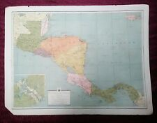 WWII ERA ATLAS PAGE - CENTRAL AMERICA & WEST INDIES
