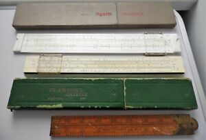 ANTIQUE & VINTAGE A.W FABER CASTELL & ARISTO MULTIRIETZ & RABONE BOXWOOD RULERS