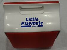 New listing Vintage Little Playmate by iGloo Personal Cooler Red & White Blue Letters 12/95
