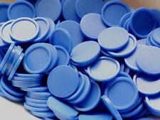 250 Einkaufswagenchips Wertmarken Getränkemarken mit Griffrand | Farbe: blau