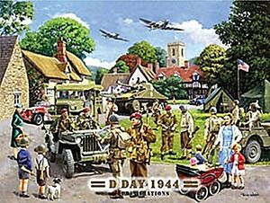D-Day 1944 large steel sign 400mm x 300mm (og)