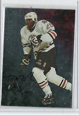 1998-99 BE A PLAYER AUTO MIKE GRIER AUTOGRAPH IN THE GAME 54 OILERS