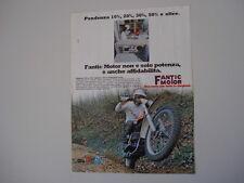 advertising Pubblicità 1977 MOTO FANTIC CABALLERO RC 50/125
