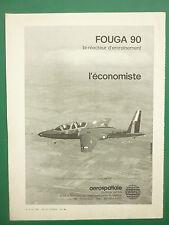 6/1979 PUB AEROSPATIALE AVION FOUGA 90 MILITARY TRAINER ORIGINAL FRENCH AD