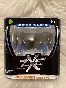 Sylvania Silverstar ZXE H7 Pair Set Headlight Bulbs Xenon Fueled NEW