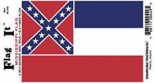 Mississippi State Flag - Vinyl Decal Sticker 3.5''x 5''