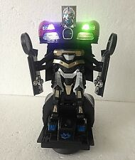 ROBOT TRANSFORMER & CAR 2 IN 1 - BUGATTI RED LIGHTS & MUSIC ROBOT RACES CAR