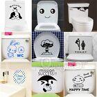 New Toilet Seat Wall Sticker Vinyl Art Wallpaper Removable Bathroom Decals Decor